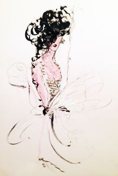 Watercolour, ink - 2014 #iamdanielfisher #art #fashionillustration