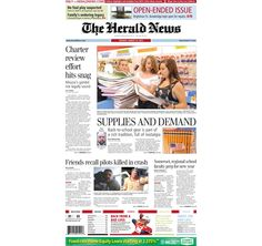 The front page of The Herald News for Tuesday, Aug. 27, 2013. #fallriver