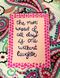 Quote on Canvas Painting 9x12 by ClaflinCanvas on Etsy #canvas #art #forsale #etsy #girly #quote #artsale #laughter