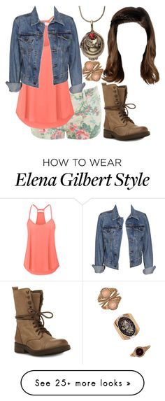 """""""The Vampire Diaries: Malia Gilbert [5x11]"""" by grandmasfood on Polyvore featuring Forever 21, Levi's and Steve Madden"""