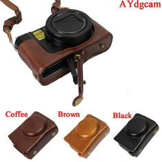 New Luxury Leather Camera Case Bag For Panasonic LX10 LUMIX LX10 DMC-LX10 Camera Bag Body Set Cover Open battery design