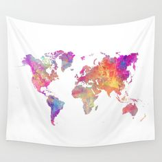 Map+of+the+world+Wall+Tapestry+by+Jbjart+-+$39.00