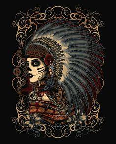Chief. #art #skulls