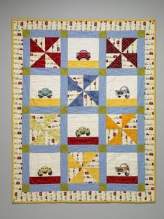 Zoom Zoom Car Quilt - Free Baby Lock Projects