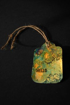 Distressed Tag Atc, Bookmarks, Crafting, Christmas Ornaments, Holiday Decor, Table, Home Decor, Marque Page, Craft