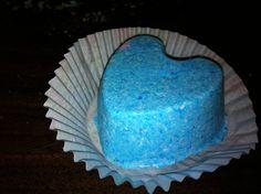 boule effervescente pour le bain moule coeur silicone colorant bleu - Colorant Bain