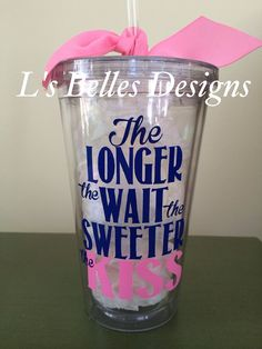 Military Wife Deployment Cup on Etsy, $12.00 The longer the wait, the sweeter the kiss