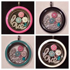 Get so many different looks with Origami Owl's interchangeable twist faces!