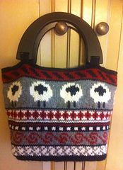 Ravelry: Fair Isle Sheep Bag pattern by Shirley Spencer