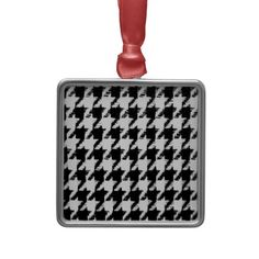 Select Your Color Houndstooth Pattern Ornaments