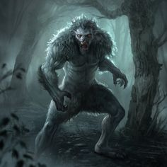 night humanoid feral wood forest Werewolf, james child