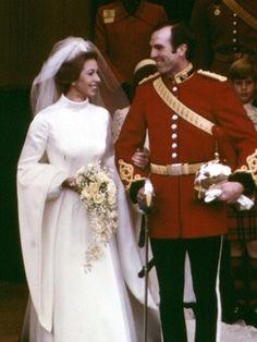 Princess Anne's wedding gown .