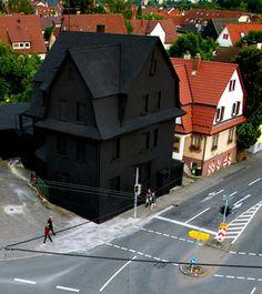 Imagem de black, house, and dark