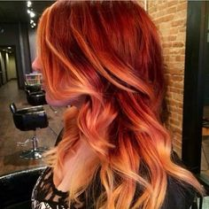 Love the red to orange ombré