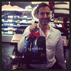 Look who we spotted Friday morning at Sephora Soho! The man himself celebrating the launch of @Marc Camprubí Camprubí Jacobs Beauty! #MarcTheMoment
