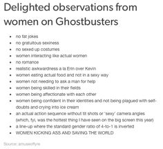 Awesome stuff about the Ghostbusters movie