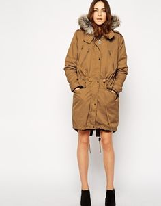 Enlarge ASOS Parka With Detachable Faux Fur Lining & Hood