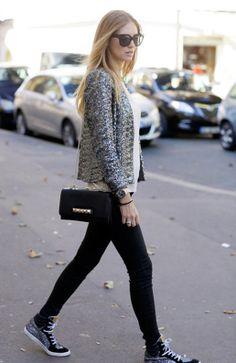 skinny jeans + sparkle