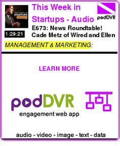 #MANAGEMENT #PODCAST      E673: News Roundtable! Cade Metz of Wired and Ellen Huet of Bloomberg talk Apple event, a16z & WSJ fight over returns, Theranos, startups tightening belts, drone-beari    HEAR:  https://podDVR.COM/?c=37ac25e6-ea73-2ae2-c985-78e91d0b5bef