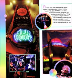 The ExtraTERRORestrial Alien Encounter was located in Tomorrowland of the Magic Kingdom at the Walt Disney World Resort in Florida. Opening date: June 20, 1995;  Closing date: October 12, 2003. The attraction had a rough history and is considered the most terrorizing attraction ever at the Magic Kingdom.