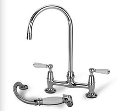 Swan Neck Kitchen Mixer With Handspray -  £778.00 - Hicks and Hicks