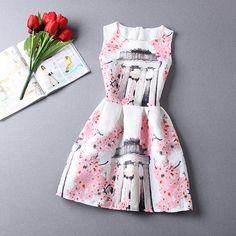 2015 nova primavera e verão vestido formal pequeno tecido jacquard cópia do vintage sem mangas vestido de baile vestido em Vestidos de Roupas e Acessórios no AliExpress.com   Alibaba Group
