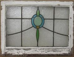 MID-SIZED-OLD-ENGLISH-LEADED-STAINED-GLASS-WINDOW-Pretty-Abstract-28-034-x-21-034