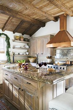 Don't be afraid to use different washes of soft color to create an all-over rustic look. #farmhousedecor #southernliving #homedecor