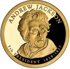 2008 P/&D Andrew Jackson Presidential One Dollar Coin From U.S Mint Money Coins