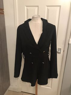 4703a48e9eae Ladies Black Dressy Look Playsuit Size 12 Billie Faiers In The Style BNWT   fashion