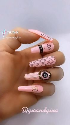 Bling Acrylic Nails, Acrylic Nails Coffin Short, White Acrylic Nails, Bling Nails, Swag Nails, Gel Nails, Nail Polish, Edgy Nails, Stylish Nails