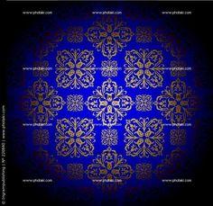 Azul Royal e detalhes em ouro/Royal blue and gold details.
