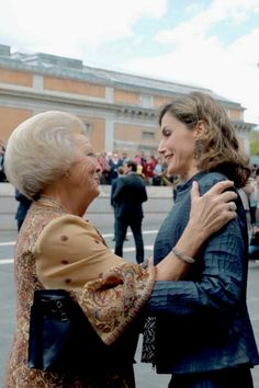 Princess Beatrix of the Netherlands and Queen Letizia of Spain. May 2016