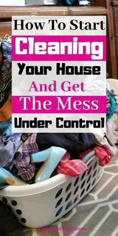 How to clean your house when the mess is out of control and you don't know where to start. I give you real tangiable steps to start cleaning, decluttering, and picking up the mess. Take back your house. Deep Cleaning Tips, House Cleaning Tips, Cleaning Solutions, Spring Cleaning, Cleaning Hacks, Speed Cleaning, Daily Cleaning, Hardwood Floor Cleaner, Clean Baking Pans