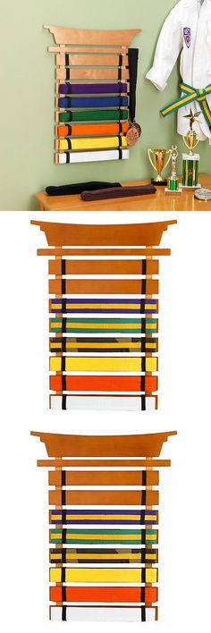 Belt Displays 179768: Martial Arts Belt Display Karate Mma Wood Bedroom Wall Decor Kids Boys Gift BUY IT NOW ONLY: $49.99