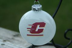 White Central Michigan University College/Team by KaLiHandcrafted