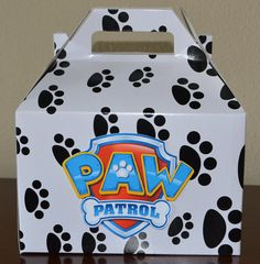 Paw Patrol large goodie bag box paw patrol party por HappyCraftyJoy