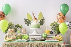 Jungle theme birthday party food Bring the jungle to you home with these helpful jungle birthday party ideas! Perfect for any jungle-themed party. Animal Themed Birthday Party, Jungle Theme Birthday, Jungle Theme Parties, Wild One Birthday Party, Safari Birthday Party, Boy Birthday Parties, Birthday Party Decorations, Jungle Decorations, Safari Theme Party