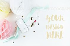 Mockup party. Styled photography by Kristina&Co on Creative Market