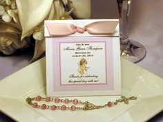 Baptism Christening Gifts Photo Party Rosary Wrap Favors