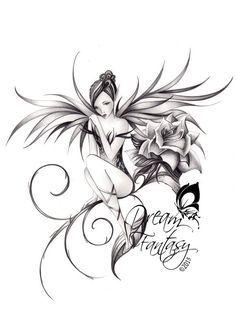 """Résultat de recherche d'images pour """"motif tatouage fée"""""""