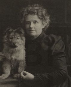 "Katherine Harris Bradley, the other half of the romantic couple and writer team ""Michael Field"" (her partner being her niece and ward Edith Emma Cooper), and their pet, a red chow chow named Whym Chow. When the dog died at the age of nine, Bradley and Cooper mourned for years, and dedicated a volume of elegies to his memory: Whym Chow: Flame of Love (1914)."