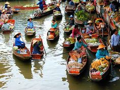 Floating market in Thailand- cross it off the list.