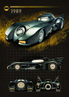 "Official Batman Batmobile 1989 #Displate artwork by artist ""DC Comics"". Part of a 16-piece set featuring designs of some of the historical Batmobiles from the popular #Batman comic book franchise. £35 / $49 per poster (Regular size) £71 / $99 per poster (Large size) #BatmanBegins #TheDarkKnight #TheDarkKnightRises #TheCapedCrusader #Batmobile #Batmobiles #TheTumbler #BatmanAndRobin #BatmanVSuperman #JusticeLeague #GothamCity #DCComics"