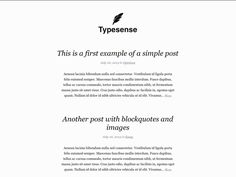 Typesense is a simple, responsive and content-centric WordPress theme.  http://www.csshero.org/themes/typesense/