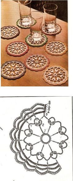 61 new ideas crochet granny square pattern mandalas photo tutorial Crochet Circles, Crochet Potholders, Crochet Doily Patterns, Granny Square Crochet Pattern, Crochet Mandala, Crochet Diagram, Crochet Round, Crochet Chart, Crochet Squares