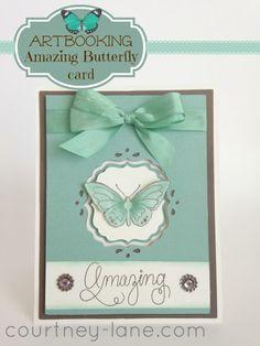 Cricut Artbooking Amazing Butterfly card.