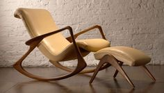 Contour Rocking Chair by Vladimir Kagan  #Vladimir_Kagan #Rocking_Chair