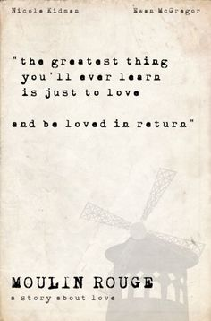 love quote from moulin rouge