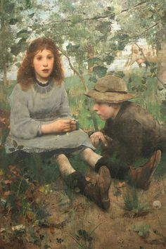 A Daydream by Edward Arthur Walton, 1885, NGS - Edward Arthur Walton - Wikipédia, a szabad enciklopédia